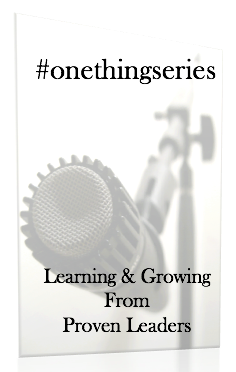 #onethingseries: Leading for Energy & Enthusiasm w/ Dr. Lillian Lowery