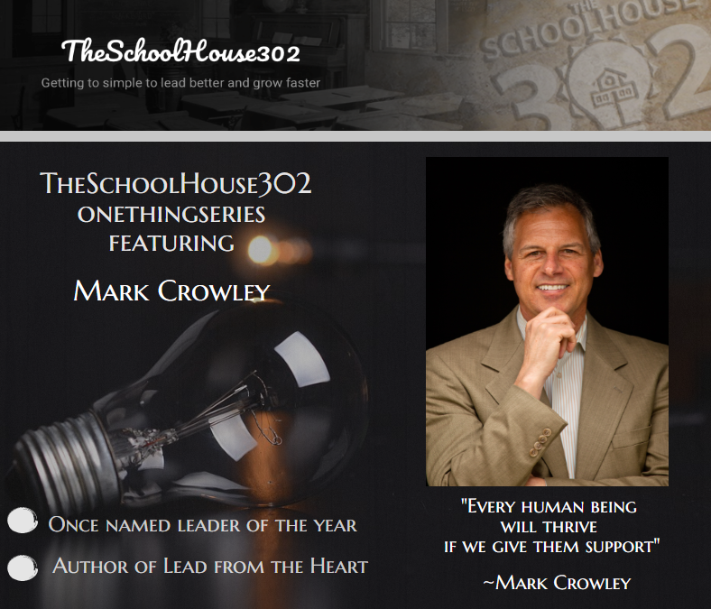 #onethingseries: Employee Engagement w/ Mark C. Crowley, @MarkCCrowley