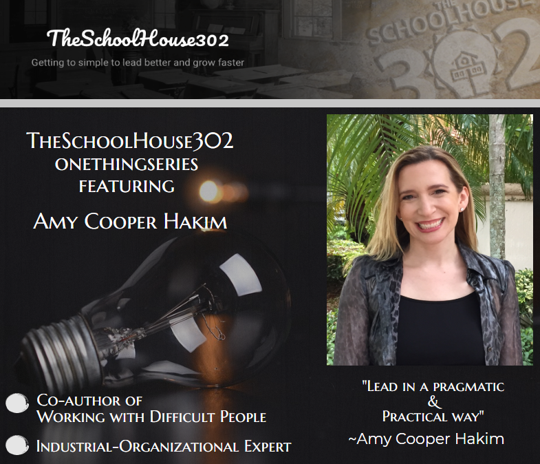 One Thing Series: Strengthening Your Mind w/ Dr. Amy Cooper Hakim — #onethingseries