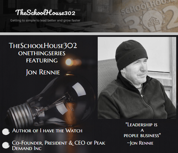 One Thing Series: Being a Present Leader w/ Jon Rennie — #onethingseries