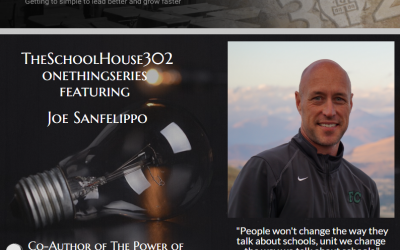 One Thing Series: Telling Your Story with Joe Sanfelippo — #onethingseries
