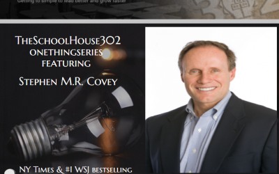One Thing Series: Building and Sustaining Trust with Stephen M.R. Covey — #onethingseries