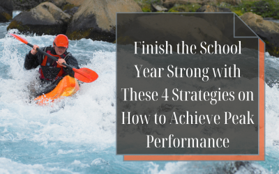 Close the Book on this School Year in Style: The Definitive Four Strategies that Every Principal Must Master To Finish with Peak Performance